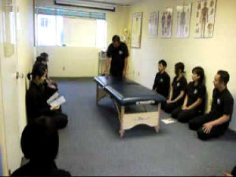 Shiatsu Treatment on Massage Table