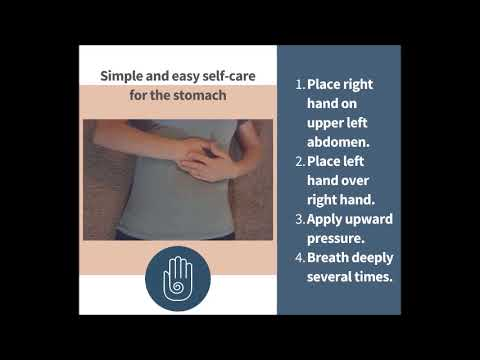 Simple and easy self-care for the stomach